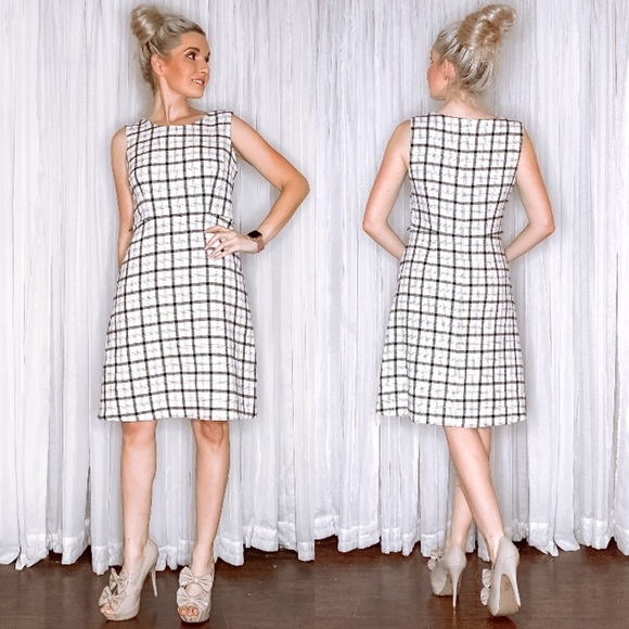 Nine West Dresses & Skirts - White Plaid Dress by Nine West